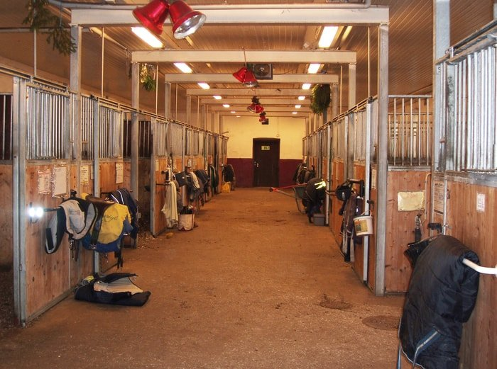 Central Walkway of Horse Stable